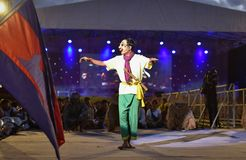 Kambodża tana przedstawienia maski zawody międzynarodowi festiwal Obraz Royalty Free