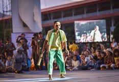 Kambodża tana przedstawienia maski zawody międzynarodowi festiwal Obrazy Stock