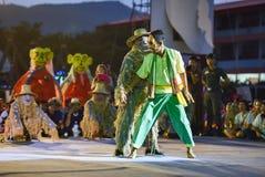 Kambodża tana przedstawienia maski zawody międzynarodowi festiwal Zdjęcia Stock