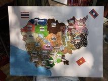 Kambodża mapa Zdjęcie Royalty Free