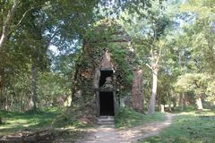 Kambodża Sambor Prei Kuk Kampong Thom prowincja Kampong Thom miasto Obraz Stock