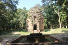 Kambodża Sambor Prei Kuk Kampong Thom prowincja Kampong Thom miasto Obrazy Royalty Free