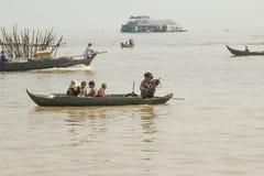 Kambodża Tonle Aprosza jezioro. Obrazy Stock