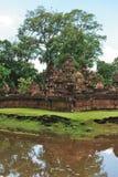 Kambodja - Angkor - Banteay Srei Royalty-vrije Stock Fotografie