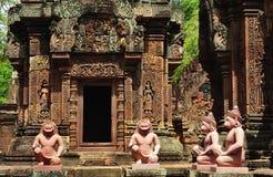 Kambodja Angkor Banteay Srey Stock Foto's