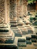 Kambodja Angkor Banteay Srey Stock Afbeelding