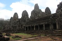 kambodja Angkor Thom City De tempel van Bayon Siem oogst Provincie Siem oogst stad Royalty-vrije Stock Foto