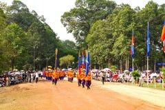 Kambodja de Koninklijke het Ploegen Ceremonie siem oogst vihear angkor bayon presh Royalty-vrije Stock Afbeeldingen