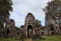 kambodja Preah Khan Kampong Svay & x28; Prasat Bakan & x29; De provincie van Preahvihear Siem oogst stad royalty-vrije stock foto