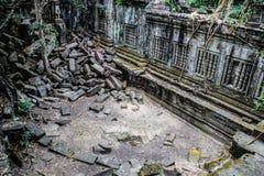Kambodja Siem oogst Beng Mealea Ruined-ruïnes stock foto
