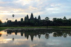 Kambodja Siem oogst de tempel van Angkor Wat Stock Foto
