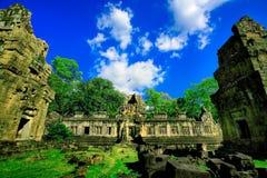 kambodjanen fördärvar tempelet Royaltyfria Foton