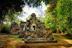 kambodjanen fördärvar tempelet Royaltyfria Bilder