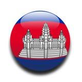kambodjansk flagga Arkivbilder