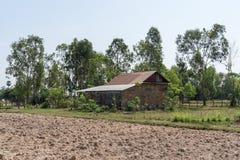 Kambodjansk lantgård Arkivfoto