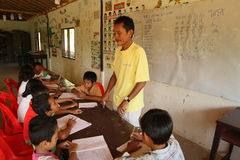kambodjansk omsorg lurar projekt Arkivbilder