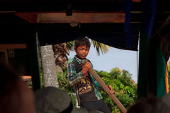 Kambodjansk pojke Arkivbilder