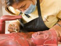 kambodjansk produce för konstkonstnärer till arbeten Royaltyfria Bilder