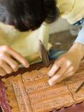 kambodjansk produce för konstkonstnärer till arbeten Fotografering för Bildbyråer