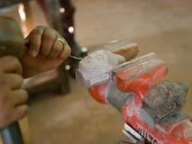 kambodjansk produce för konstkonstnärer till arbeten Arkivbild