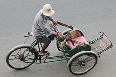 kambodjansk trishaw Royaltyfri Bild