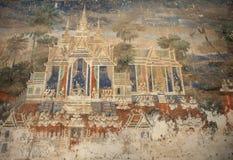 Kambodjansk väggmålning Royaltyfria Bilder