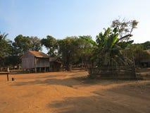 Kambodjanska traditionella hus Arkivfoto