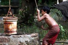 kambodjanskt barn Arkivbild