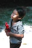 kambodjanskt barn Arkivbilder