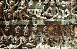 Kambodscha; Angkor; Aussätzigkönigterrasse Stockbild