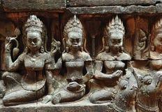 Kambodscha Angkor die Aussätzigkönigterrasse Stockbild