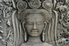 Kambodscha; Angkor wat; apsara lizenzfreie stockfotos