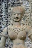 Kambodscha Angkor Wat: Flachreliefs lizenzfreies stockbild