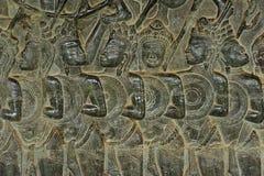 Kambodscha; Angkor wat; Flachreliefs Stockfotografie