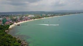 Kambodscha-Boot auf Seeluftbrummenvideo stock video