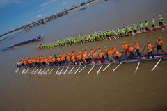 Kambodscha Dragon Boat Racing stockbild
