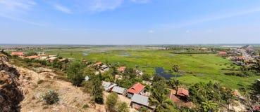Kambodscha - Landschaftspanorama nahe Siem Reap Lizenzfreie Stockfotos