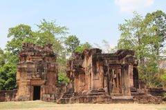 kambodscha Ta-Ächzentempel Provinz Oudor Meanchey Siem- Reapstadt Stockfotografie