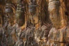Kambodschanische Gesichter Stockbild