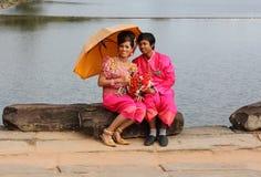 Kambodschanische Hochzeit Stockbild
