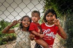 Kambodschanische Kinder Lizenzfreies Stockfoto
