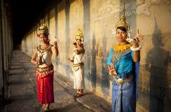 Kambodschanische traditionelle Kultur-traditionelles Tempel-Konzept Stockfotos