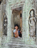 Kambodschanischer Junge Lizenzfreie Stockfotografie