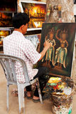 Kambodschanischer Maler, Angkor Wat Stockfotos