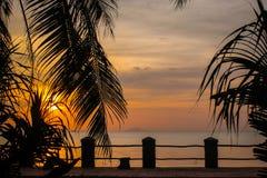 Kambodschanischer Sonnenuntergang Stockbild