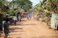 Kambodschanisches Dorf Stockbild
