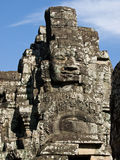 Kambodschanisches Steingesicht Stockfoto