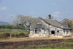 Kambondo Angola. Colonial village in Angola. Portuguese construction Stock Photography