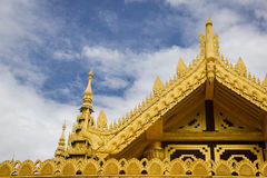 Kamboza Thadi Palace, Kanbawzathadi Palace in Myanmar stock photography