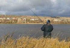 kamchatka ψαράδων ποταμός Ρωσία Στοκ Εικόνες